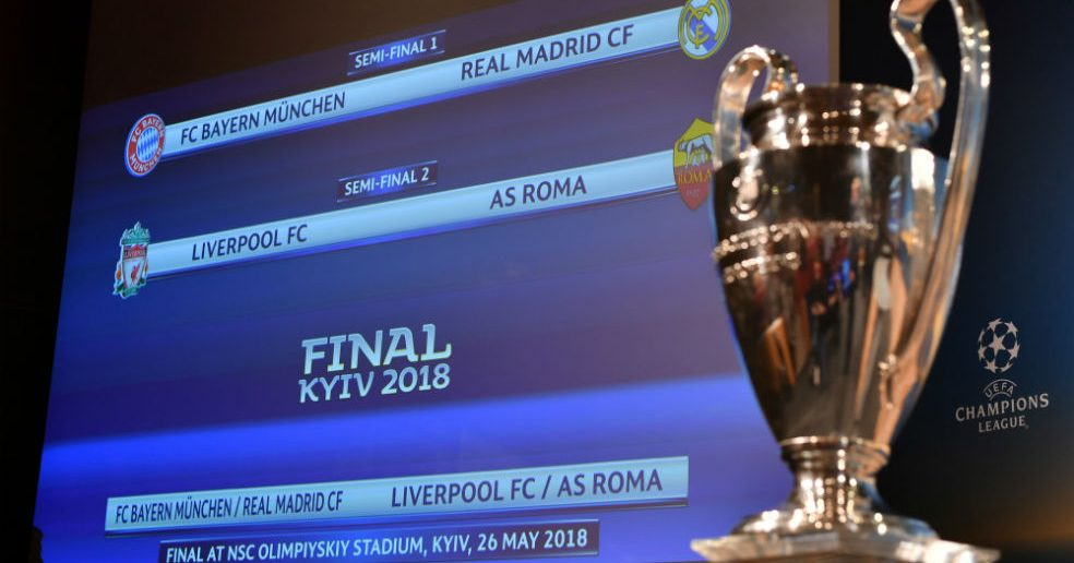 Semifinales Champions League Real Madrid - Bayern Múnich y Liverpool – Roma